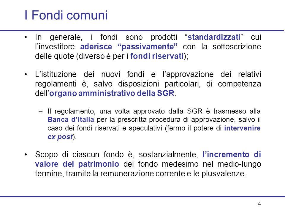 I Fondi comuni
