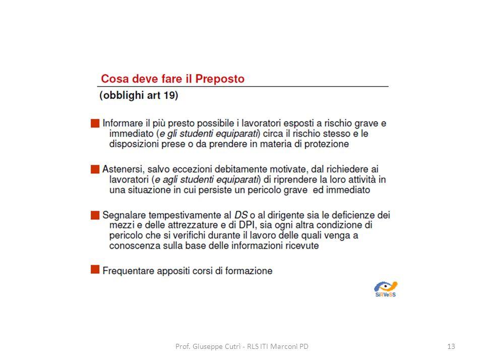 Prof. Giuseppe Cutrì - RLS ITI Marconi PD