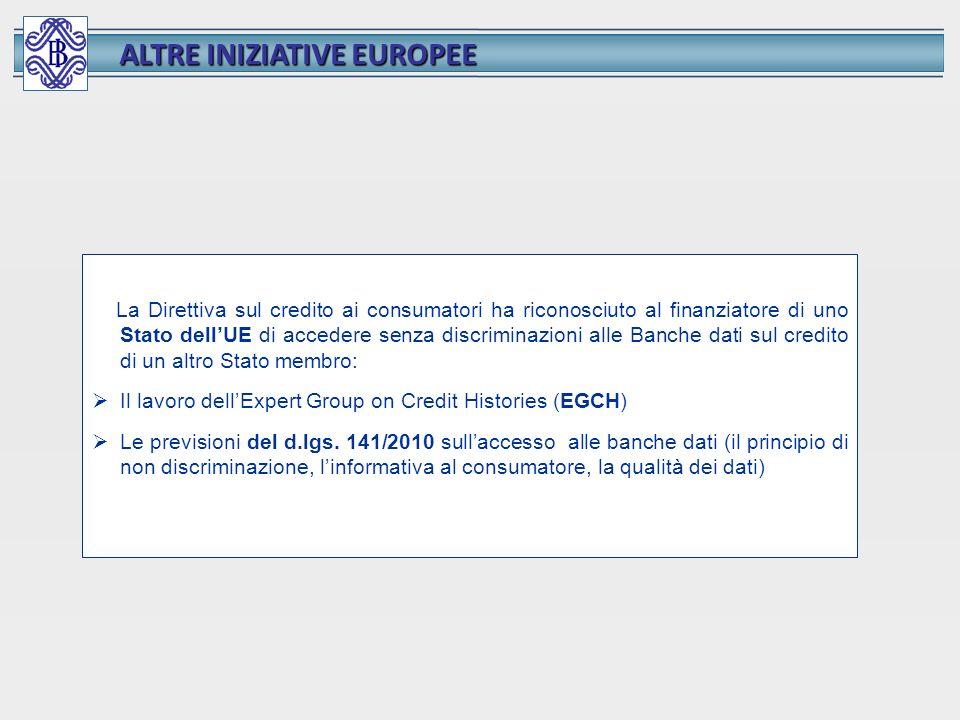 ALTRE INIZIATIVE EUROPEE