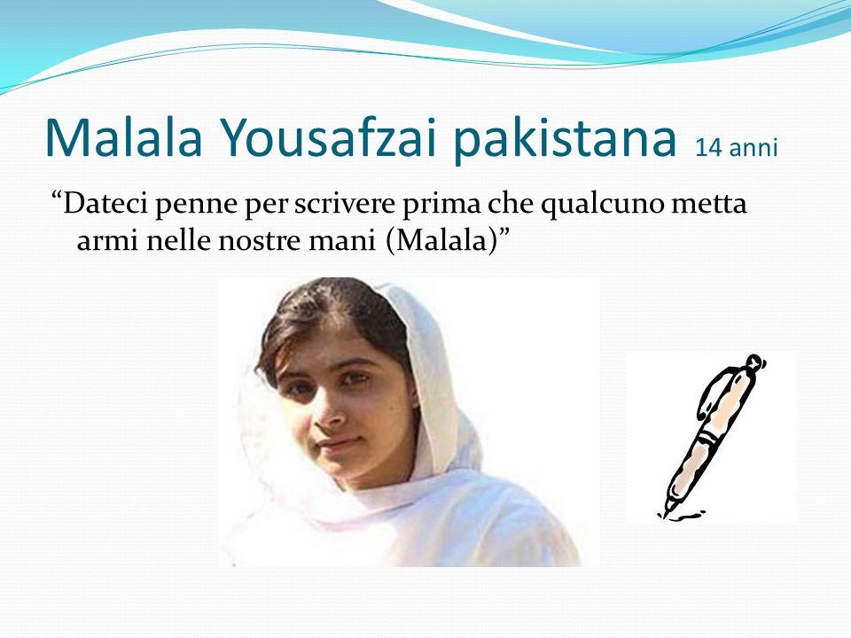 Malala Yousafzai pakistana 14 anni