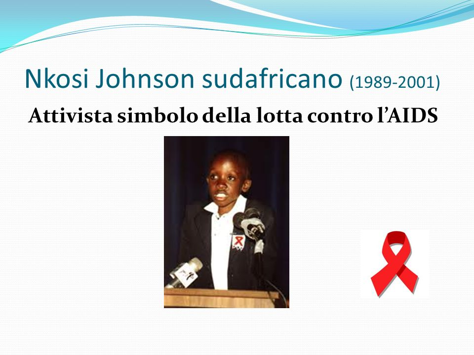 Nkosi Johnson sudafricano (1989-2001)
