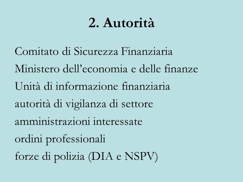 2. Autorità Comitato di Sicurezza Finanziaria
