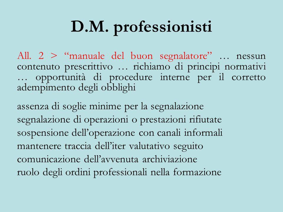 D.M. professionisti