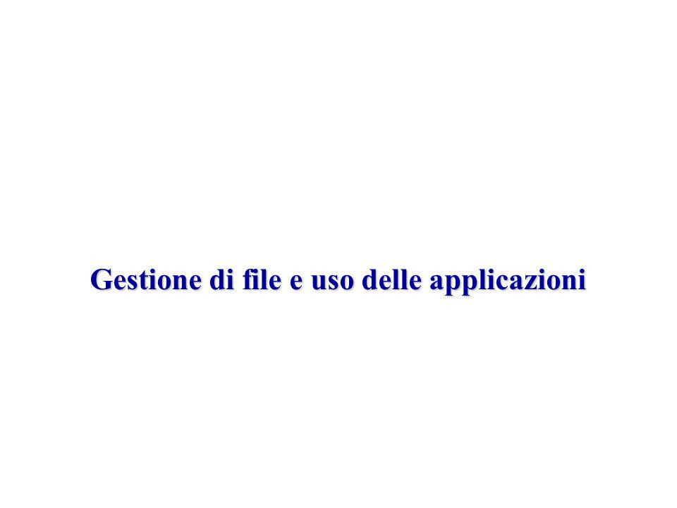 Gestione di file e uso delle applicazioni