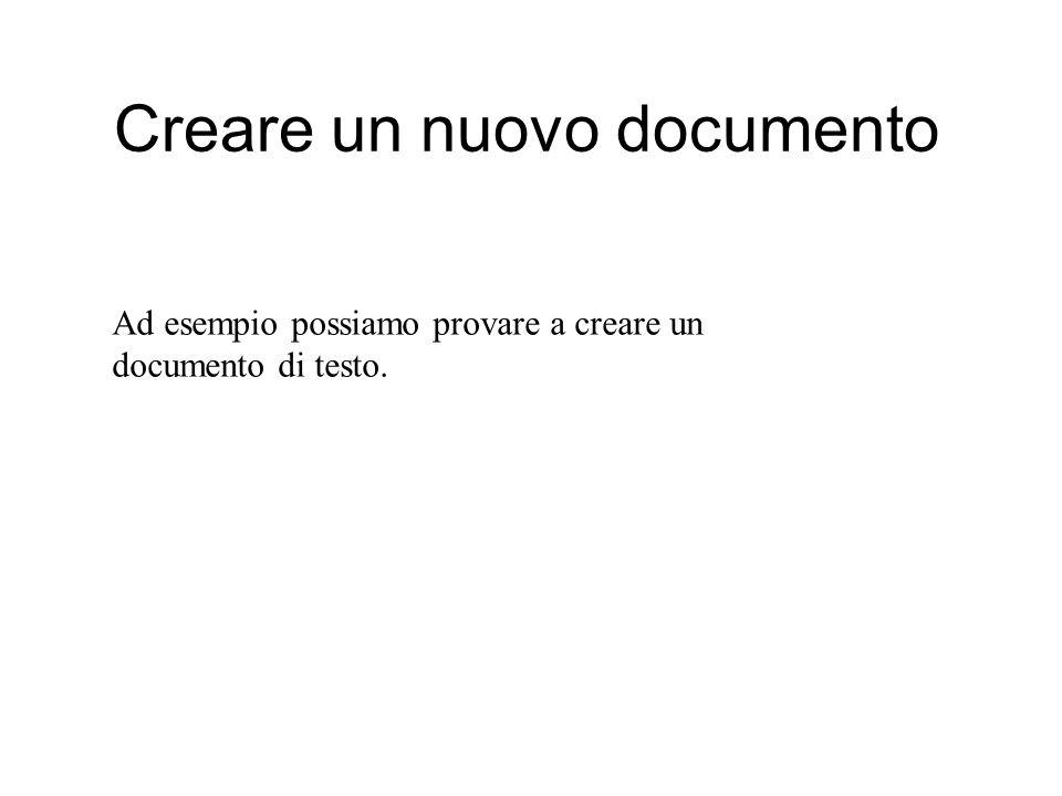 Creare un nuovo documento