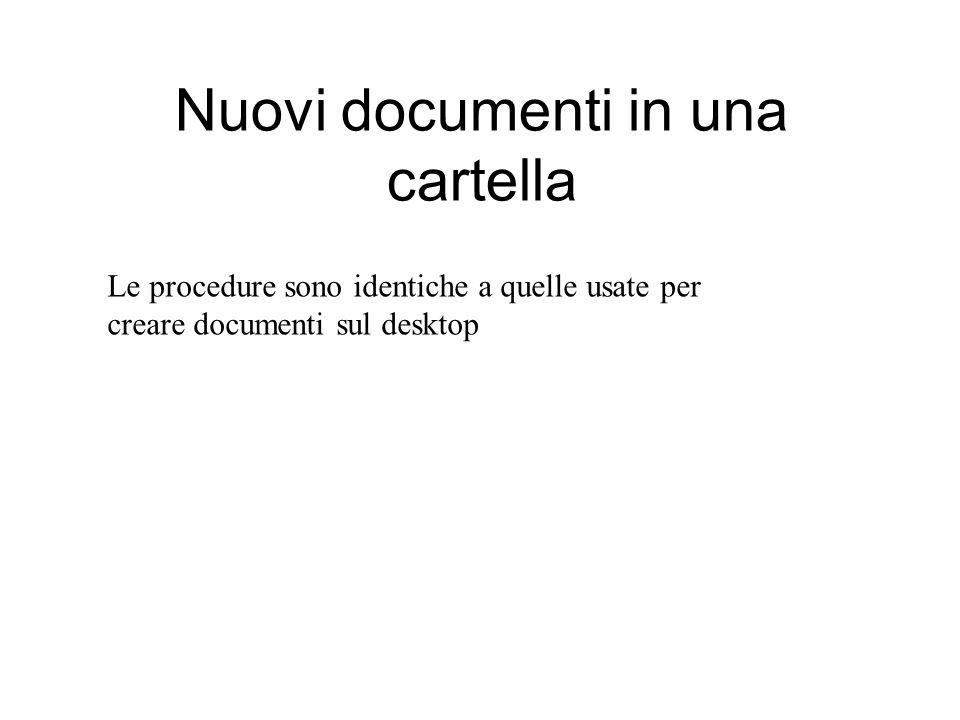 Nuovi documenti in una cartella