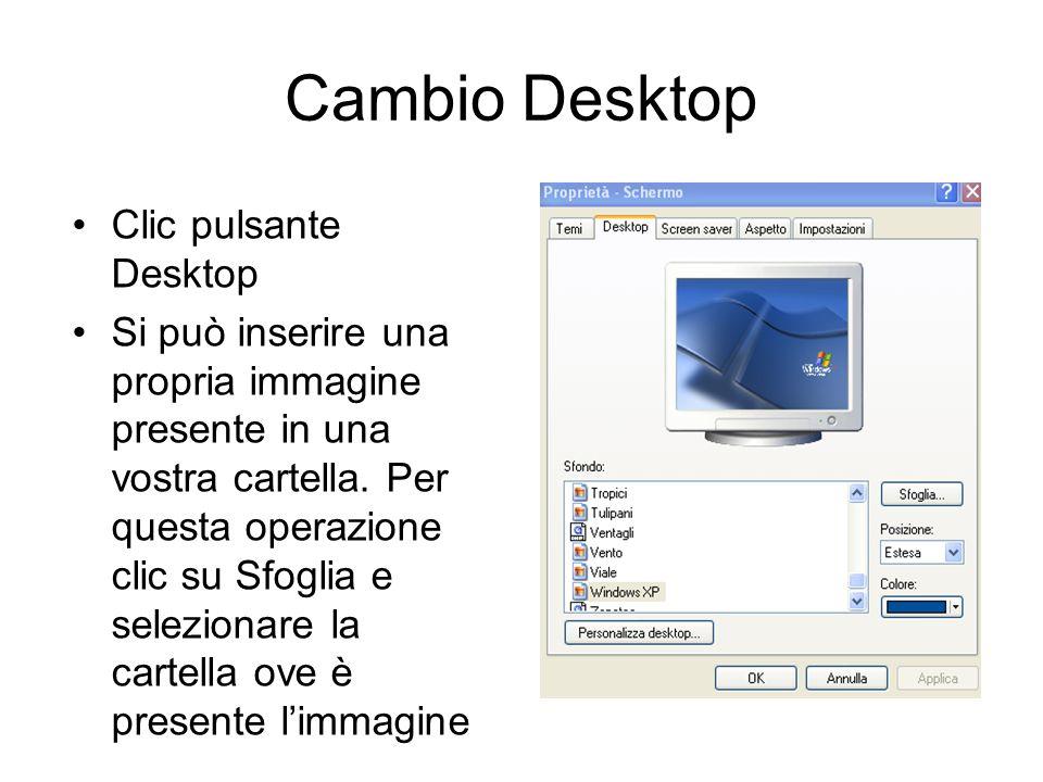 Cambio Desktop Clic pulsante Desktop