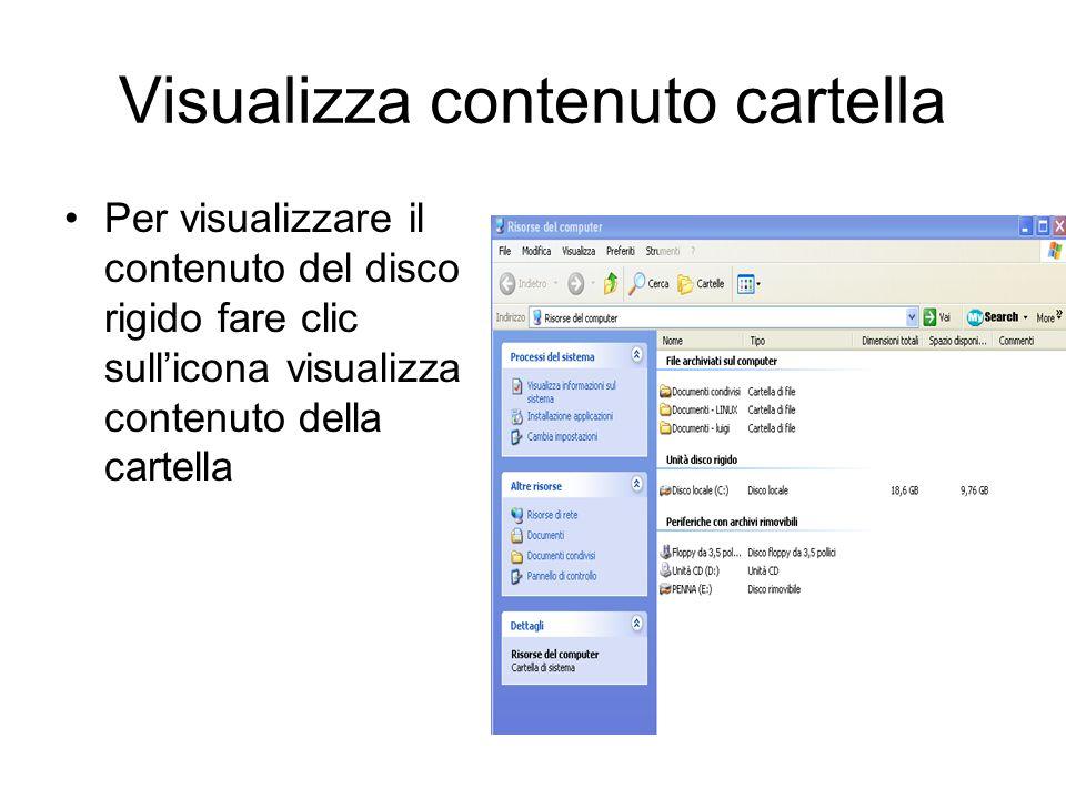 Visualizza contenuto cartella