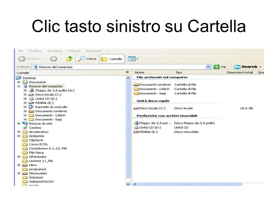 Clic tasto sinistro su Cartella