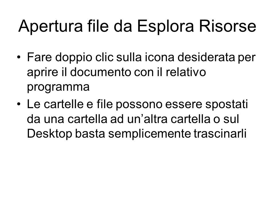 Apertura file da Esplora Risorse