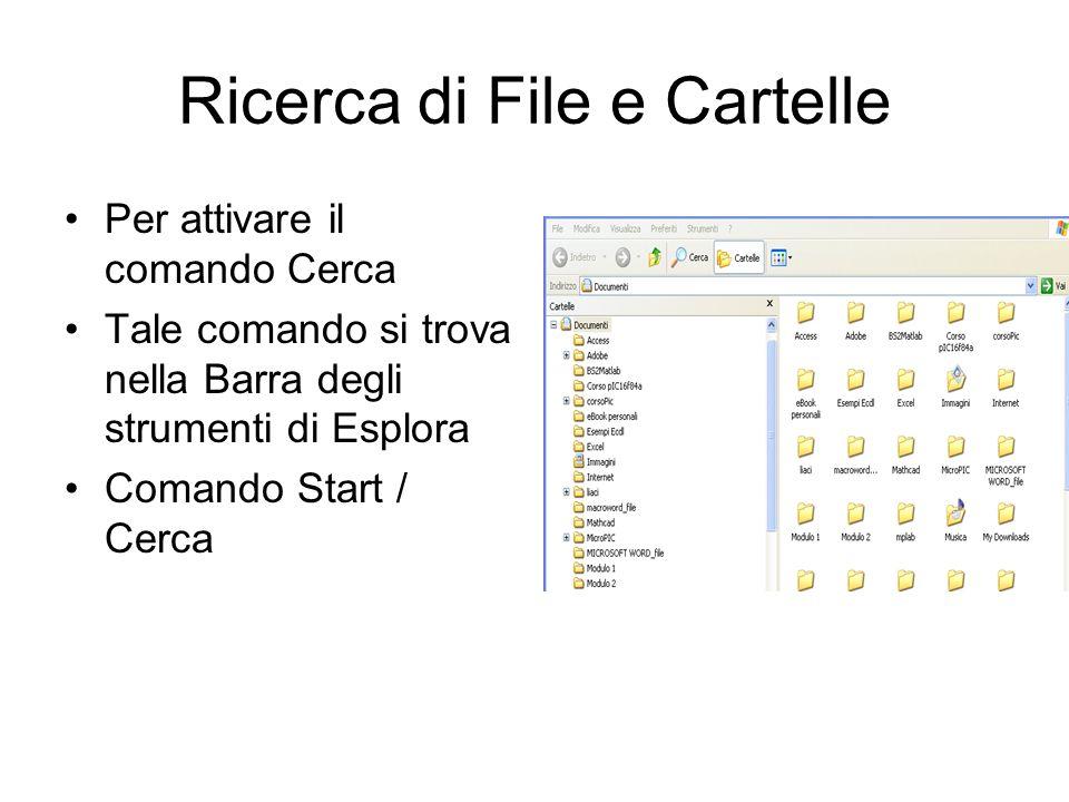 Ricerca di File e Cartelle