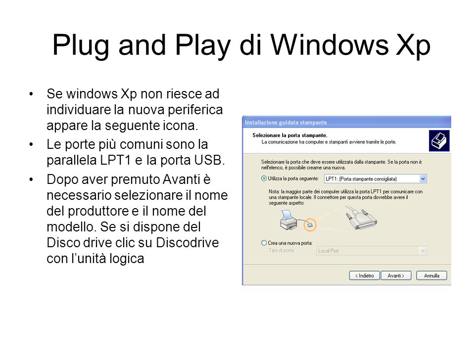 Plug and Play di Windows Xp