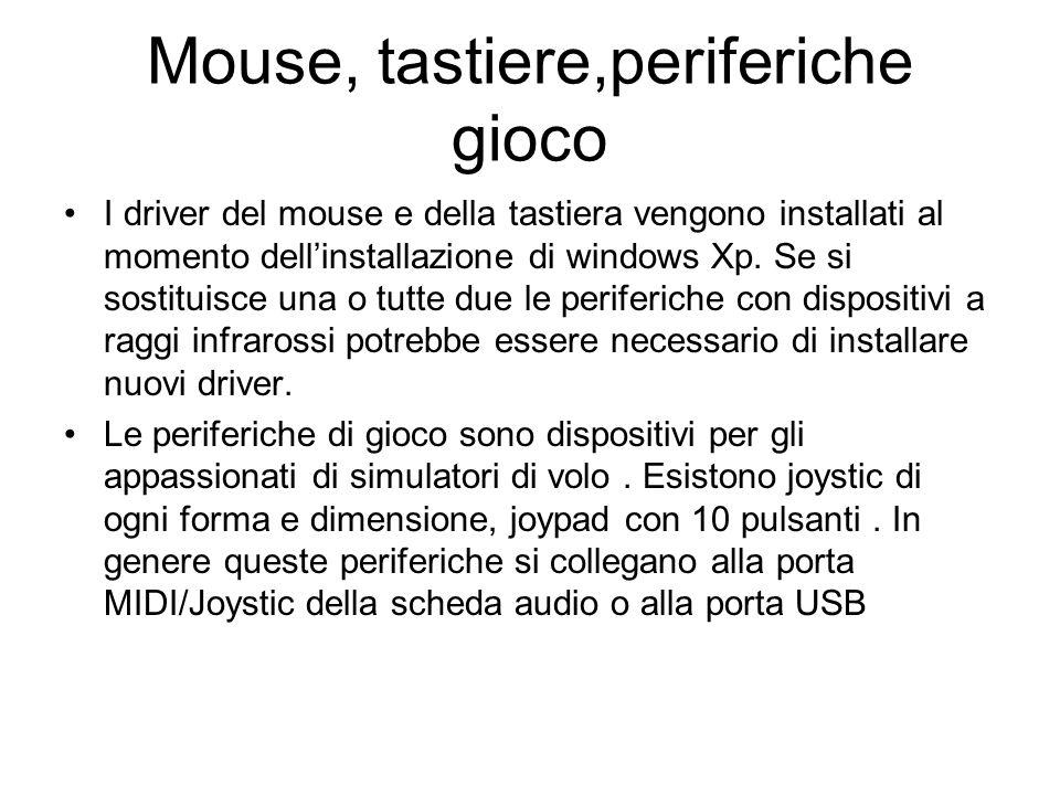 Mouse, tastiere,periferiche gioco