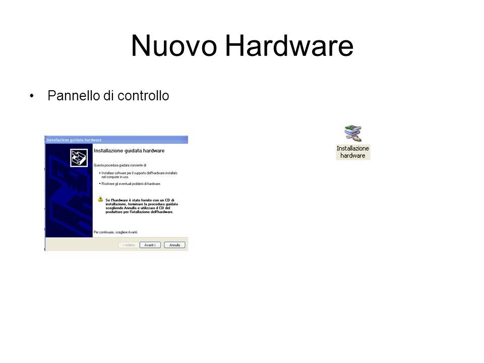 Nuovo Hardware Pannello di controllo