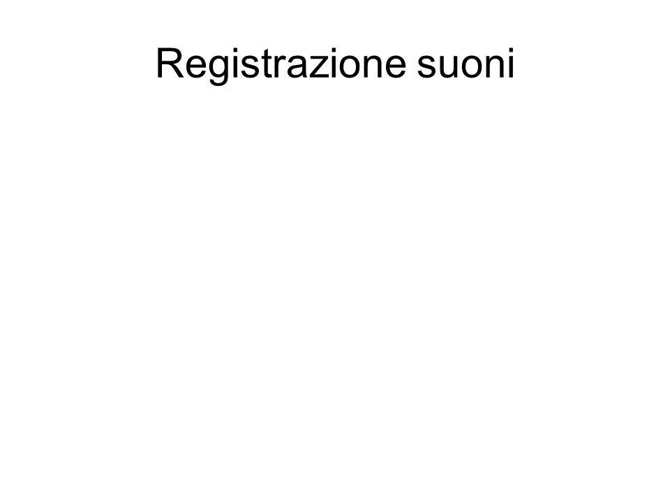 Registrazione suoni