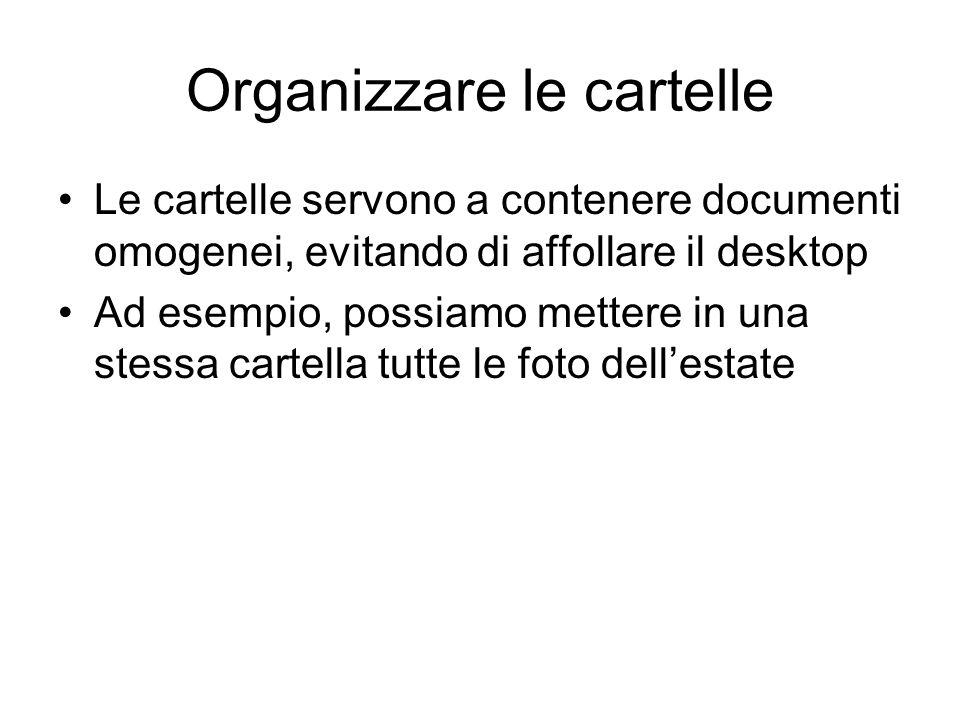 Organizzare le cartelle