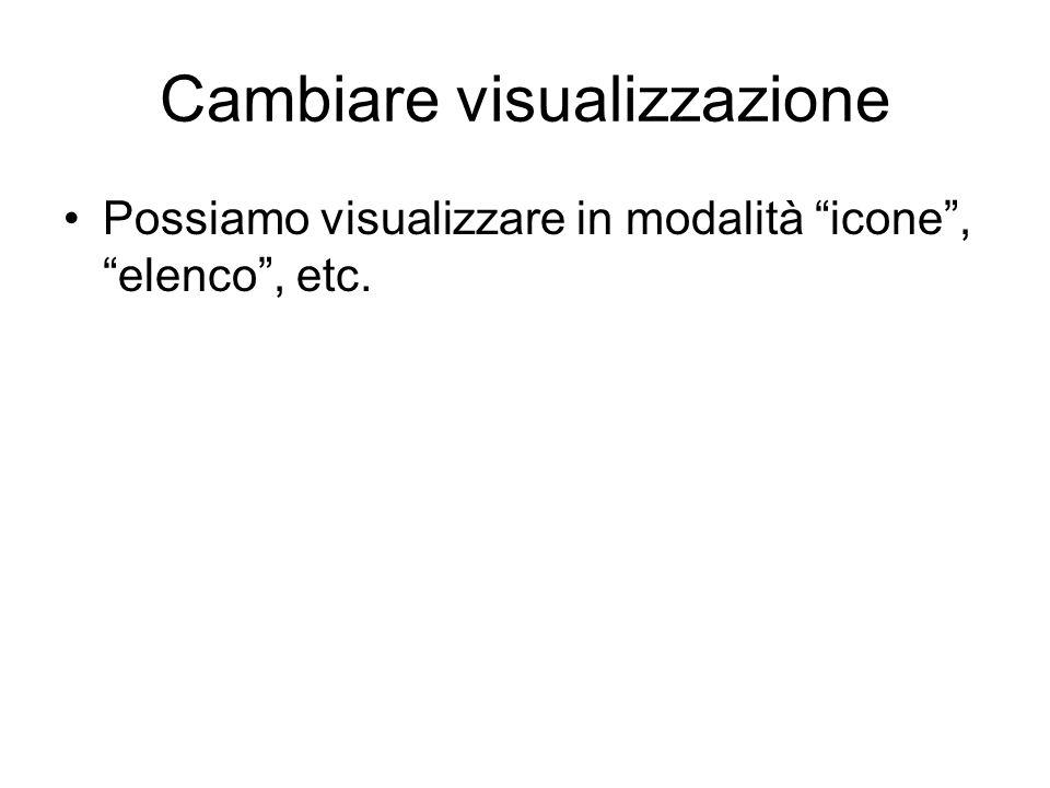 Cambiare visualizzazione