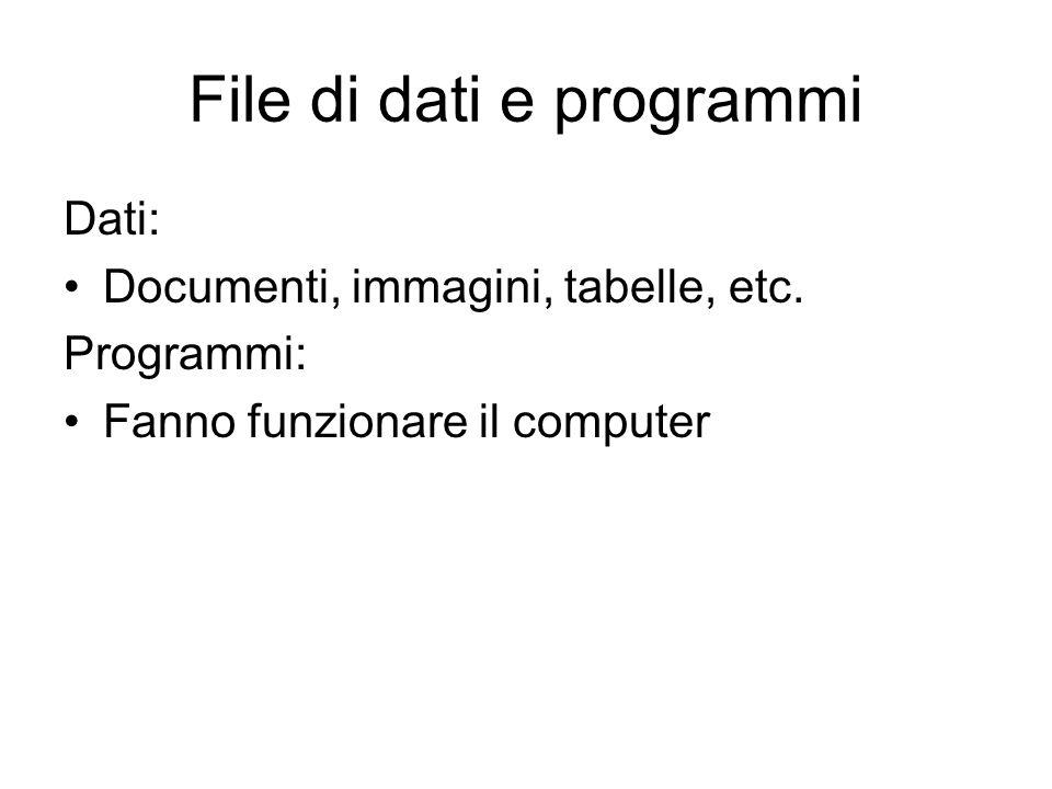 File di dati e programmi