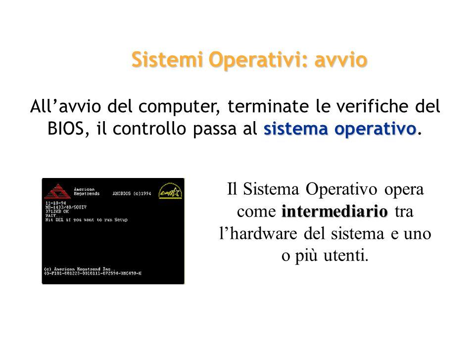 Sistemi Operativi: avvio