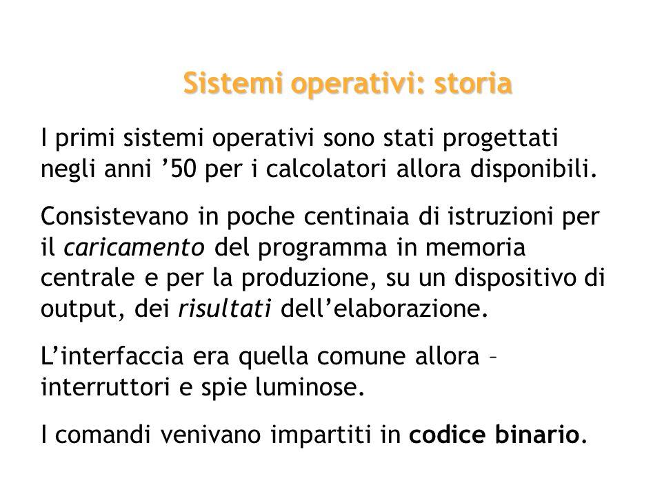 Sistemi operativi: storia