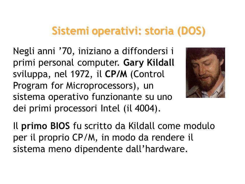 Sistemi operativi: storia (DOS)