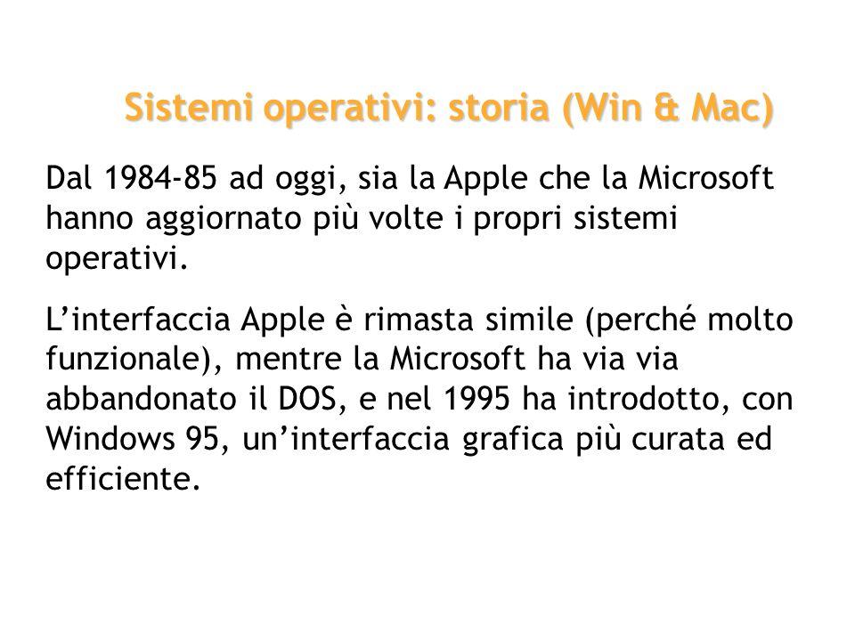 Sistemi operativi: storia (Win & Mac)