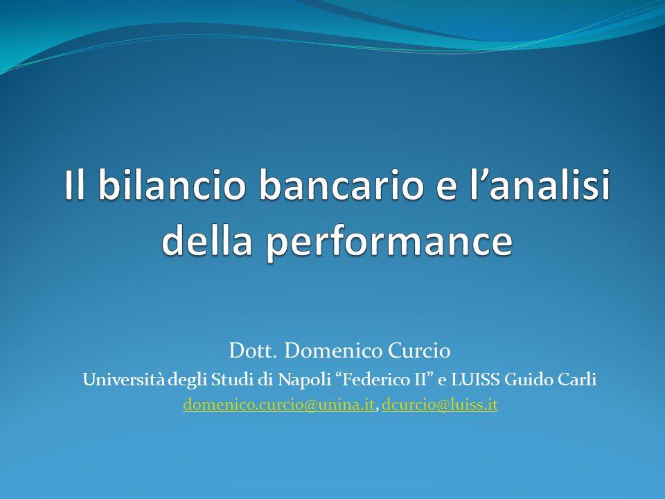 Il bilancio bancario e l'analisi della performance