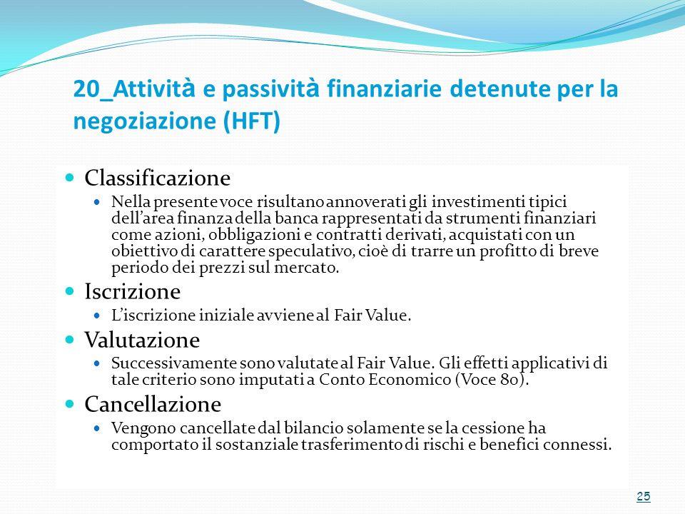 20_Attività e passività finanziarie detenute per la negoziazione (HFT)