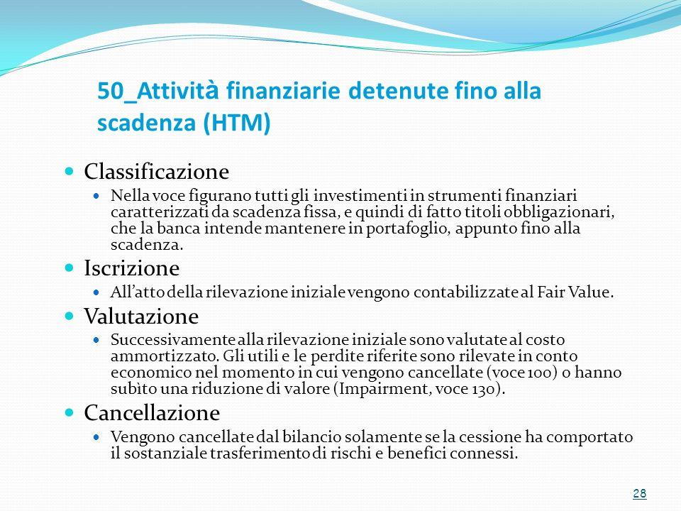 50_Attività finanziarie detenute fino alla scadenza (HTM)