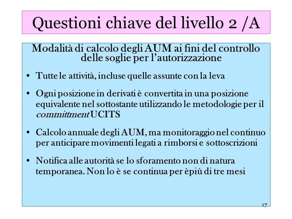 Questioni chiave del livello 2 /A