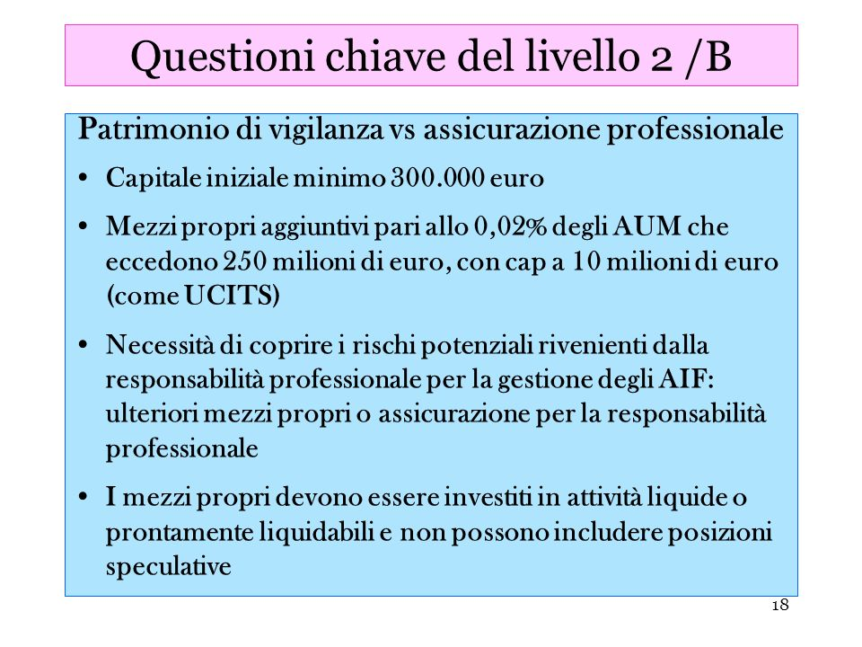 Questioni chiave del livello 2 /B