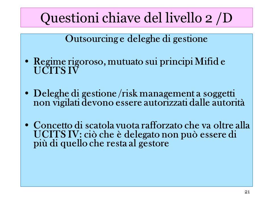 Questioni chiave del livello 2 /D