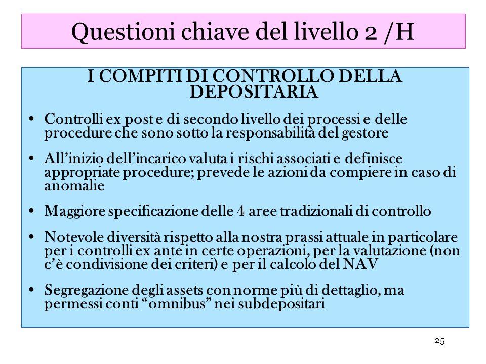 Questioni chiave del livello 2 /H