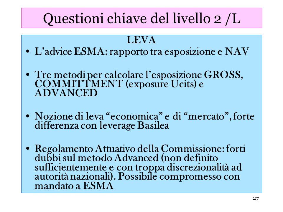 Questioni chiave del livello 2 /L