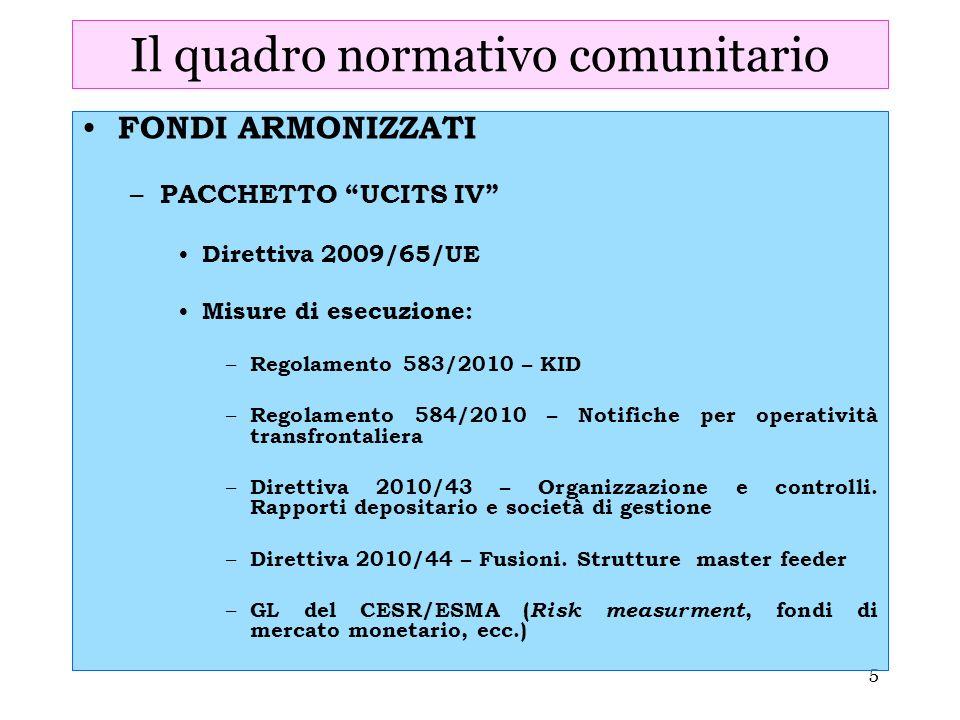 Il quadro normativo comunitario