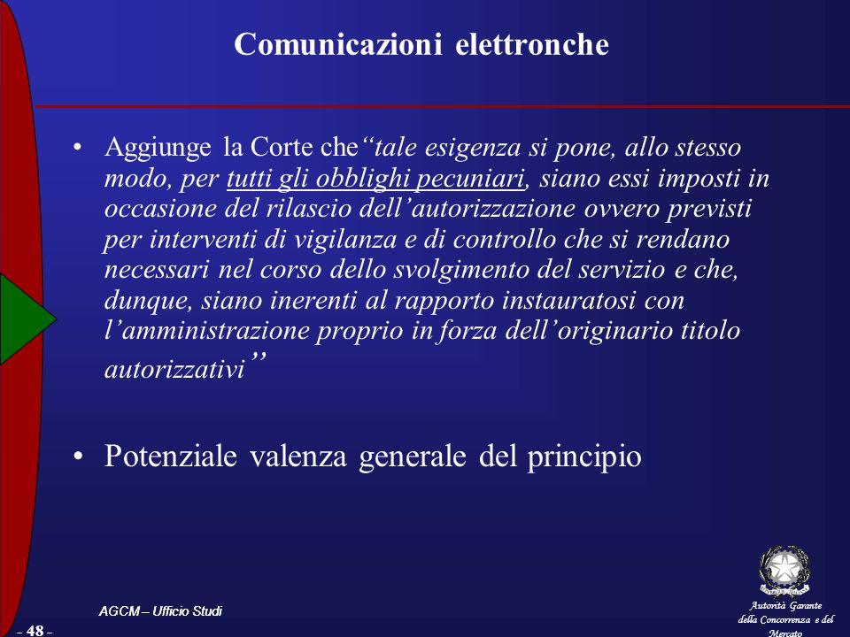 Comunicazioni elettronche