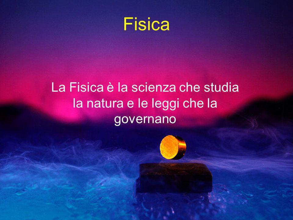 Fisica La Fisica è la scienza che studia la natura e le leggi che la governano.
