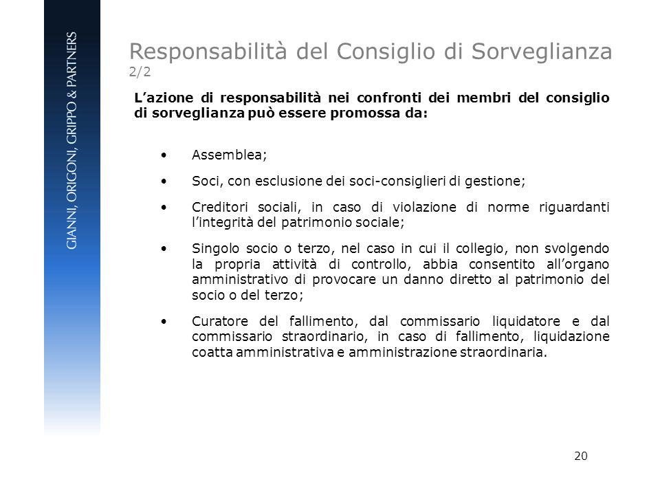 Responsabilità del Consiglio di Sorveglianza 2/2