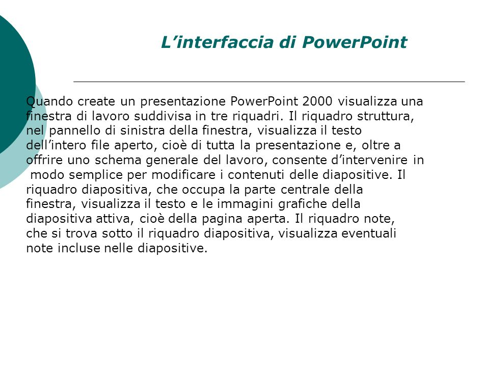 L'interfaccia di PowerPoint