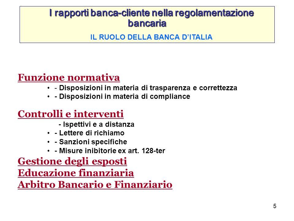 I rapporti banca-cliente nella regolamentazione bancaria