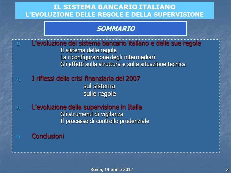 IL SISTEMA BANCARIO ITALIANO