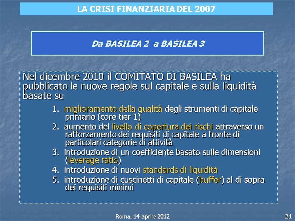 LA CRISI FINANZIARIA DEL 2007