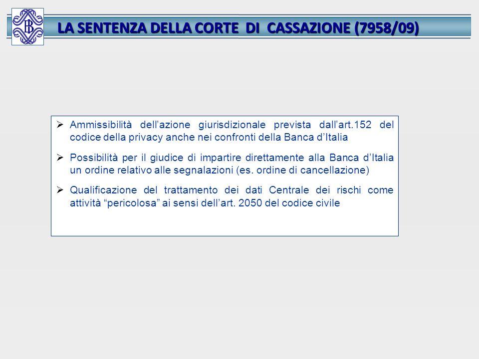 LA SENTENZA DELLA CORTE DI CASSAZIONE (7958/09)