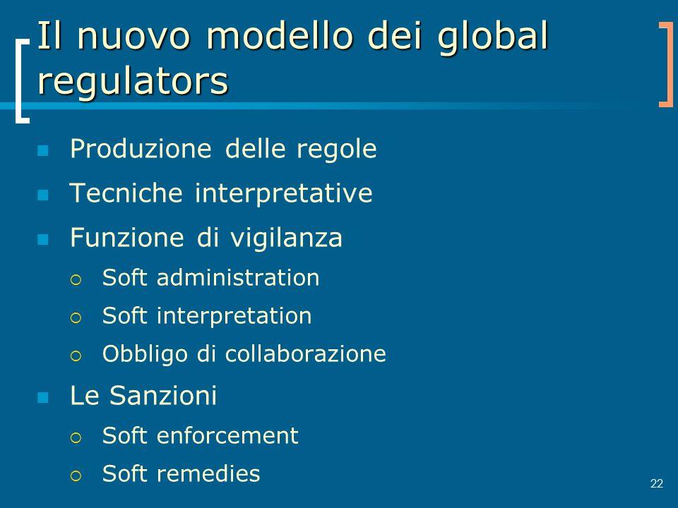 Il nuovo modello dei global regulators