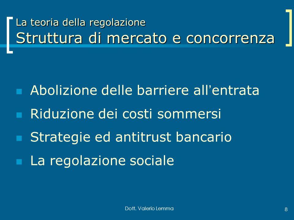 La teoria della regolazione Struttura di mercato e concorrenza