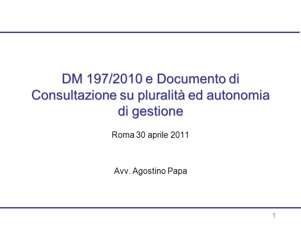 Roma 30 aprile 2011 Avv. Agostino Papa
