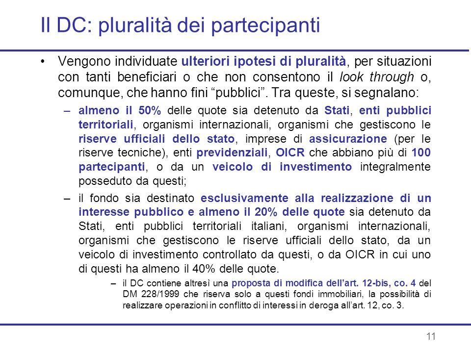 Il DC: pluralità dei partecipanti