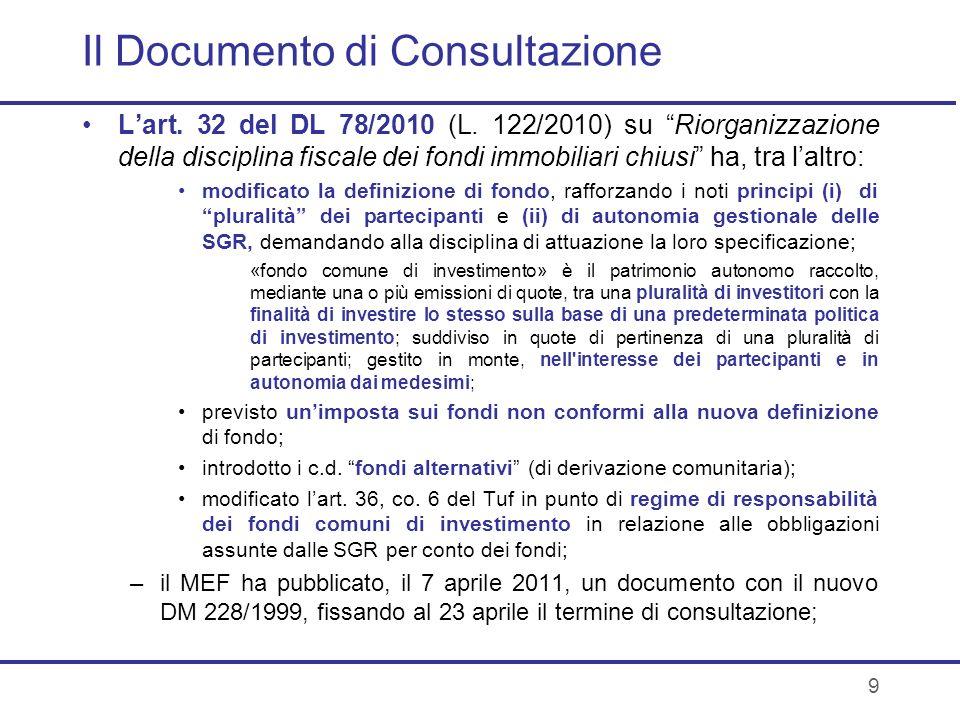 Il Documento di Consultazione