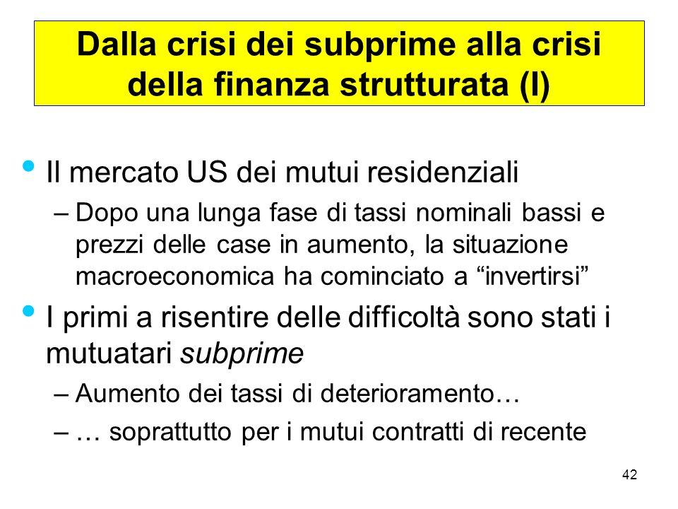 Dalla crisi dei subprime alla crisi della finanza strutturata (I)