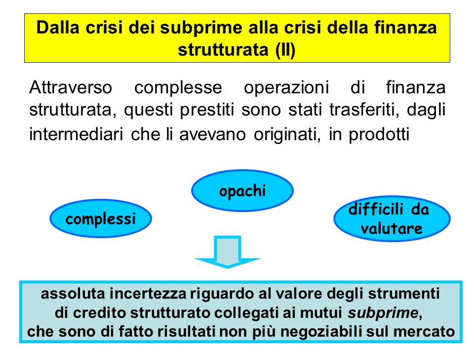 Dalla crisi dei subprime alla crisi della finanza strutturata (II)